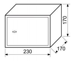 Trezor ocelový s mechanickým zámkem 3,2kg