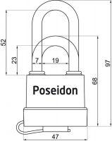 Visací zámek POSEIDON 40 voděodolný