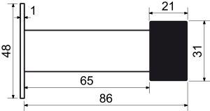 Dveřní zarážka nástěnná černá matná