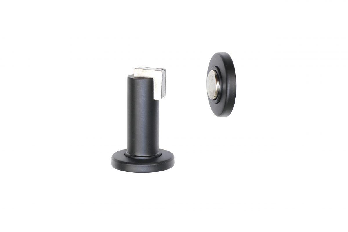 Dveřní zarážka podlahová / nástěnná magnetická černá matná