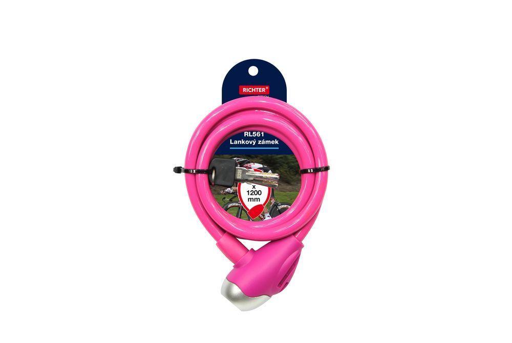 Lankový zámek barevný - růžová