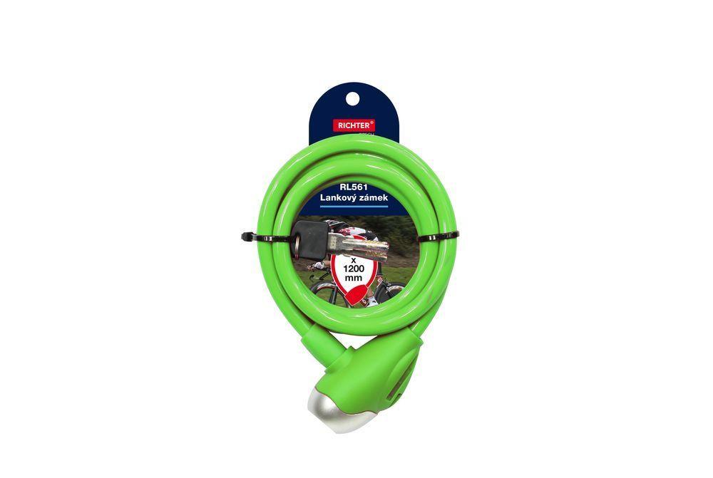 Lankový zámek barevný - zelená