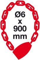 Řetězový kódový zámek 6x900 černý