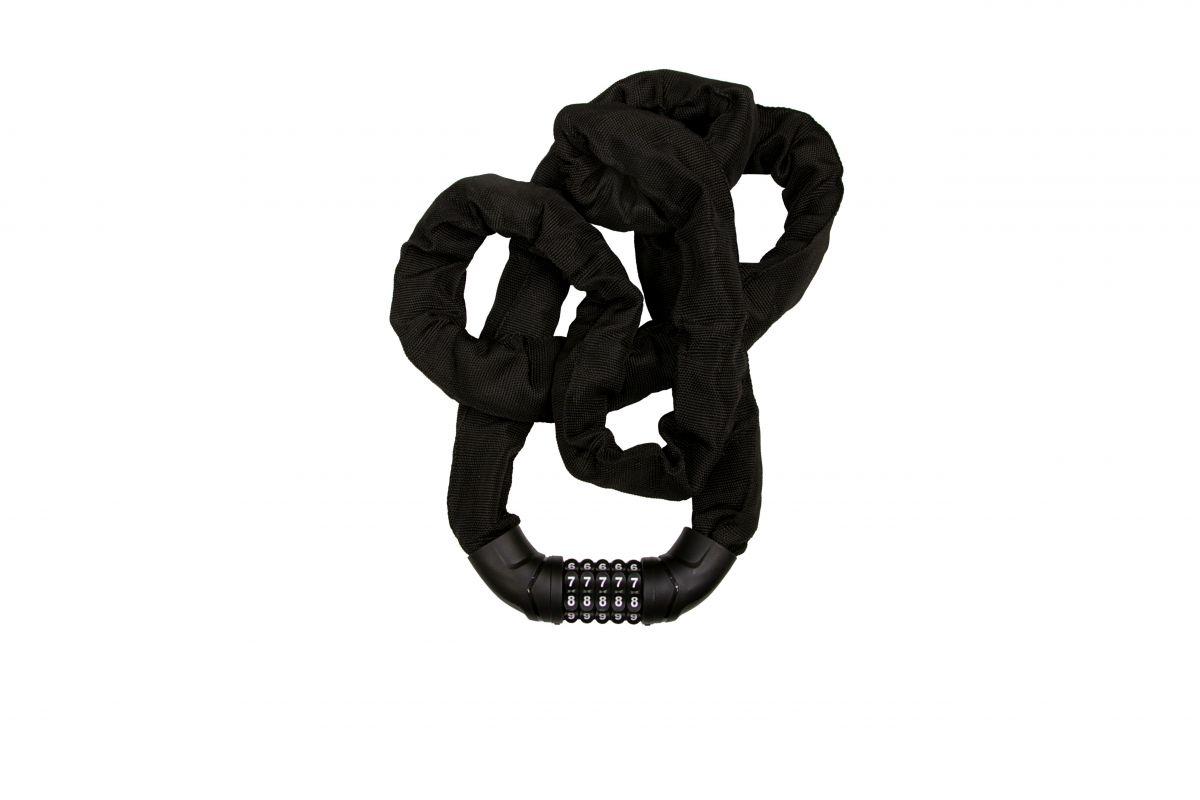 Řetězový kódový zámek 8x2000 černý