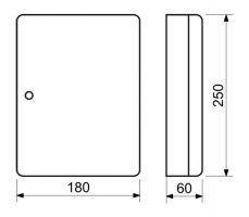 Schránka na klíče 18x25x6cm - 24 klíčů