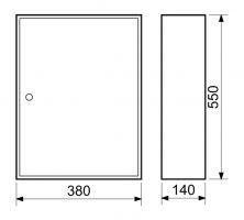 Schránka na klíče 55x38x14cm - 150 klíčů