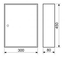 Schránka na klíče 30x45x80cm - 64 klíčů
