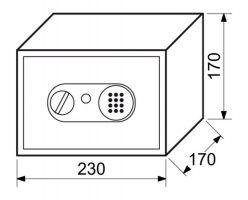 Trezor ocelový RS.17.EDN.B elektronický zámek bílá 3kg