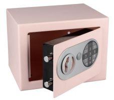 Trezor ocelový s elektronickým zámkem růžová 3kg