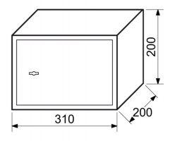 Trezor ocelový s mechanickým zámkem 6,4kg