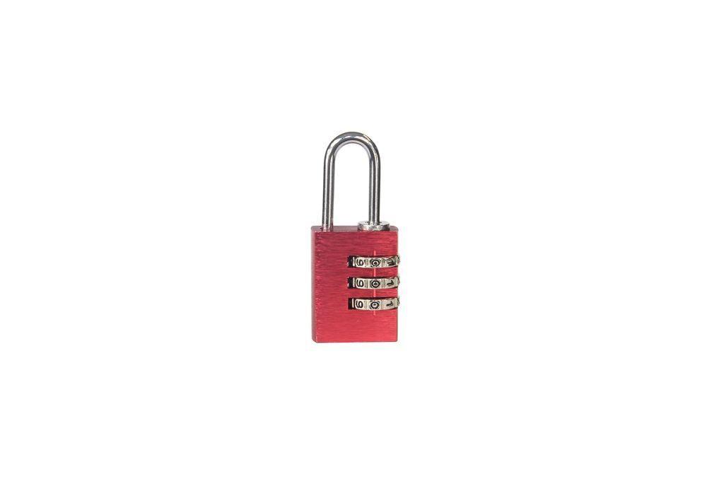 Visací zámek kódový - 23mm - červená