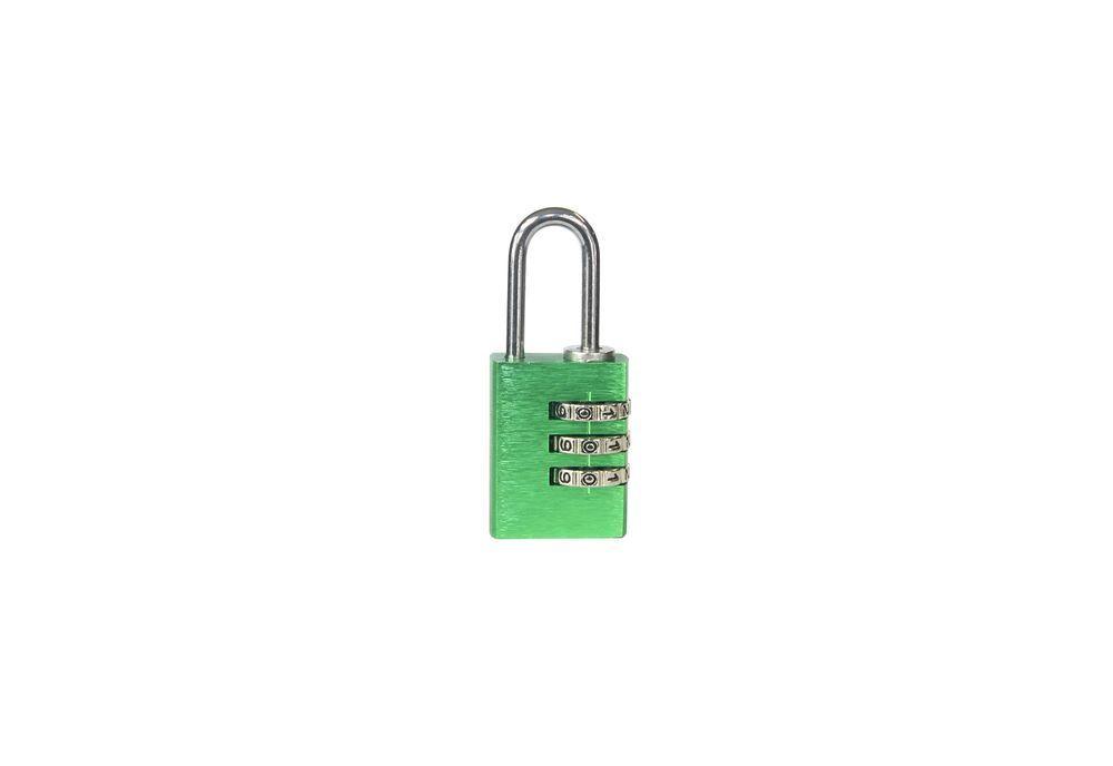 Visací zámek kódový - 23mm - zelená