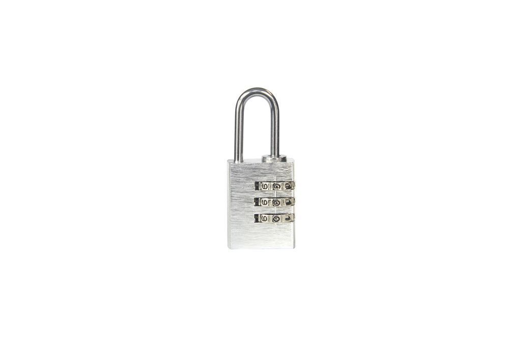 Visací zámek kódový - 30mm - stříbrná