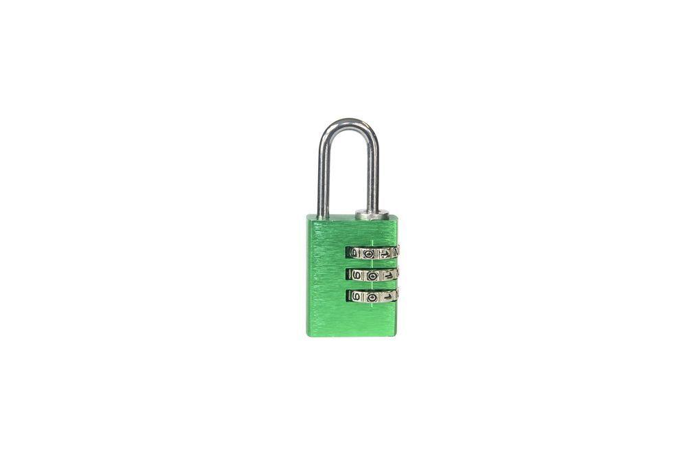 Visací zámek kódový - 30mm - zelená