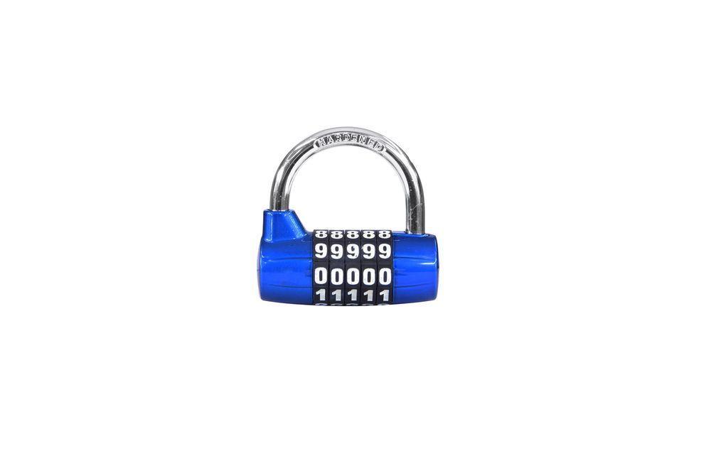 Visací zámek kódový - zinek - modrá