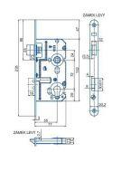 Zámek zadlabací vložkový HOBES K221L R72 Z77 D55 C20,2 ZP1 L