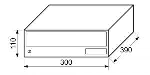 Poštovní schránka BK.25.V1.S - stříbrná